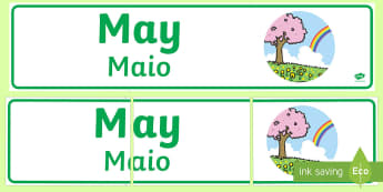 May Display Banner English/Portuguese - May Display Banner - may, display banner, display, banner, months, year, abnner, eal
