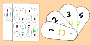 Number Shape Fan 1-10 - number shape, fan, 1-10, number, shape, maths, mathematics, numbers