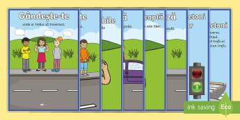 Traversarea străzii în siguranță  Planșe - t-t-2359-road-crossing-safety-posters  Planșe, siguranța rutieră, siguranța în trafic, traversa