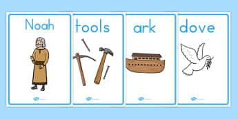 Noah's Ark Display Posters - usa, america, Noah's Ark, display, poster, sign, noah, tools, ark, animals, rain, rainbow, flood, dove, land