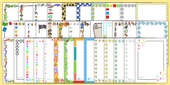 KS1 Page Border Variety Pack - writing aid, writing template