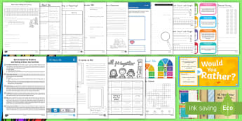 Back to School Grade 3-5 Resource Pack - Back to school, moving up, transition, getting to know you, new class, new teacher, new school