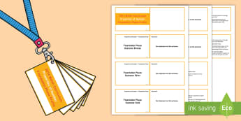 Lanyard Sized Foundation Phase Profile Properties of Number Skills Ladder Cards -  Lanyard Foundation Phase Outcomes, Foundation Phase, Foundation Phase Profile, FPP, Wales, Assessme