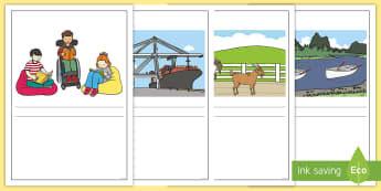 Phase 3 Pictures and Captions Writing Frames - Phase 3 Captions And Pictures Matching Cards - word cards, matching activity, captions, pictures, ma