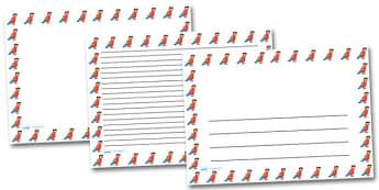 Pirate Parrot Landscape Page Borders- Landscape Page Borders - Page border, border, writing template, writing aid, writing frame, a4 border, template, templates, landscape