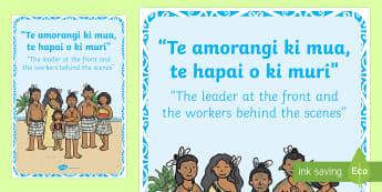 Whakatauki Te Amorangi Display Poster Te Reo Maori/English - maori, proverb, whakatauki