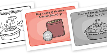 Sing a Song of Sixpence Sequencing (A4) - Sing a Song of Sixpence, nursery rhyme, sequencing, rhyme, rhyming, nursery rhyme story, nursery rhymes, Sing a Song of Sixpence resources