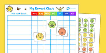 My Reward Chart - reward, chart, reward chart, chart for rewards, awards, behaviour management, behaviour, attitude, treats, recording behaviour