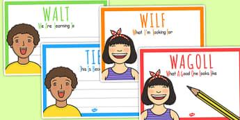 WALT WILF TIB WAGOLL Posters - class management, teaching aid