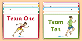 Editable Team Name A4 Display Poster - Sport's Day, team names, houses, colours, race, sports, tournament - Sport's Day, team names, houses, colours, race, sports, tournament