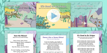 Sing With Ronald Songs and Rhymes Resource Pack - ronald, rhino. jungle, rainforest, unique, special, song, rhyme, sing, PSE, PSHE, SEAL, relationship