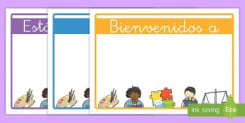 Carteles: Bienvenidos - cartel, póster, exponer, exposición, decorar, decoración, bienvenidos, bienvenida, bienvenido, ed
