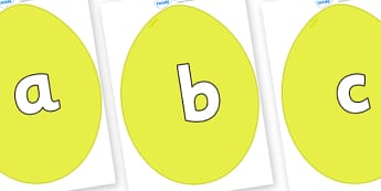 Phoneme Set on Golden Eggs - Phoneme set, phonemes, phoneme, Letters and Sounds, DfES, display, Phase 1, Phase 2, Phase 3, Phase 5, Foundation, Literacy