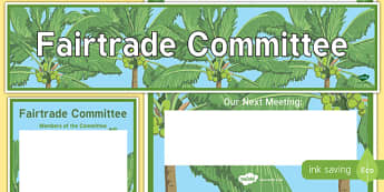 Fairtrade Committee Display Banner and Poster - fairtrade committee, display banner, display, banner