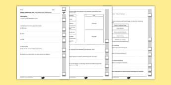 Y6 Evolution and Inheritance End of Unit Assessment
