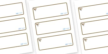Wren Themed Editable Drawer-Peg-Name Labels (Blank) - Themed Classroom Label Templates, Resource Labels, Name Labels, Editable Labels, Drawer Labels, Coat Peg Labels, Peg Label, KS1 Labels, Foundation Labels, Foundation Stage Labels, Teaching Labels