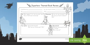 Superhero Themed Book Review Writing Template - Book Review, Opinion Writing, Superheros