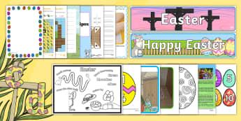The Week Before the Easter Break Resource Pack - KS1, KS2, Easter, Lent,