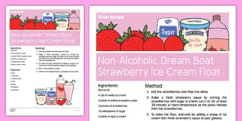 Elderly Care Valentine's Day Non-Alcoholic Drink Recipe - Elderly, Reminiscence, Care Homes, Valentine's Day