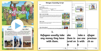 Refugee Assembly Pack - War, Natural Disaster, Whole School, Syria, Greece, Crisis, World Issues, current affairs