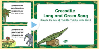 Crocodile Long and Green Song PowerPoint