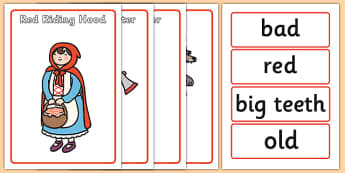 Little Red Riding Hood Character Describing Words Match Activity