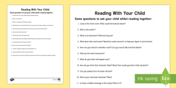 Parent Reading Prompts - parent reading prompts, prompt, prompts, reading, read, book, story, parent, parents, mum, dad, books