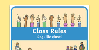 Class Rules Display Poster Romanian Translation-Romanian-translation