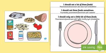 Healthy Eating Sorting Activity English/Polish - Healthy Eating Sorting Activity - healthy eating, healthy eating sorting, healthy eating sorting game