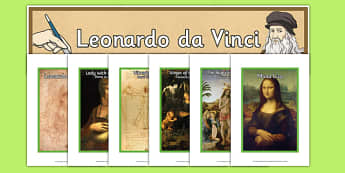 Leonardo da Vinci Artist Inspiration English/Romanian - Art, Artists, Inspiration, Art Club, Elderly Care, Care Homes, Activity, Stimulation, Paintings, Dis
