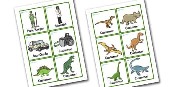 Dinosaur Park Role Play Badges - dinosaur park, dinosaur park role play, dinosaur park role play badges, dinosaur themed badges, role play