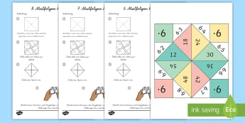 Malfolgen Wahrsager Spiel - Malfolgen, Wahrsager, Spiel, Mathe, times tables, fortune teller, activity, maths - Malfolgen, Wahrsager, Spiel, Mathe, times tables, fortune teller, activity, maths