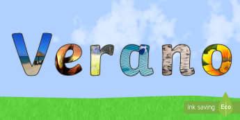 Letras de mural: Verano - Fotos - letras, exponer, exposición, decorar, decoración, verano, estaciones, estación, mural, murales,Sp