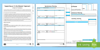 Implementing an In The Moment Approach Guidance Pack - In the Moment Planning, Anna Ephgrave, ITMP, retrospective planning, objective led planning, child-l