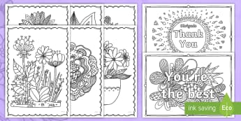 Mother's Day Mindfulness Colouring Pages English/Portuguese - KS1 & KS2 Mother's Day UK (26.3.17), eal, Portuguese, fine motor skills, colouring, flowers
