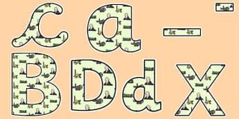 George Stephenson Themed Display Lettering - george stephenson, display lettering, themed lettering, classroom lettering, lettering, lettering, display