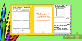 Welcome Booklet for Children English/Afrikaans - Welcome Booklet for Children - welcome, booklet, children, book, Nursery Transition, reception trans