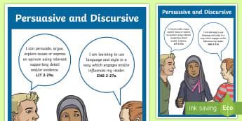 Persuasive and Discursive CfE Outcomes Display Poster - CfE Writingpersuasive writing discursive writingdebating displayENG 2-27a LIT 2-29a ,Scottish