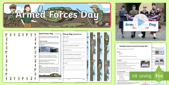 Armed Forces Day KS1 Resource Pack - army, navy, Air Force, SAS, solders, assembly, reading, fact, file