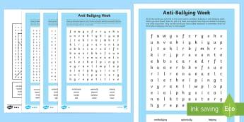 KS2 Anti-Bullying Week Word Search