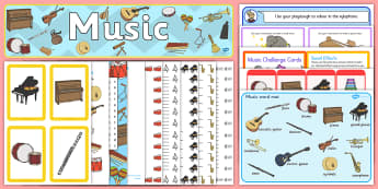 World Music Day KS1 Resource Pack - sing, instruments, play, notes, songs