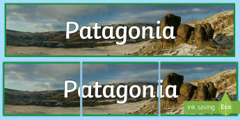 Patagonia, Y Wladfa Baner Arddangosfa - WL Social Media Requests in Welsh KS2 (MEDIUM PRIORITY),Welsh, patagona, history, places