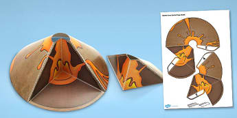 Volcano Cross Section Paper Model - volcano, paper, model, cross