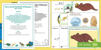 Quiet Time Box to Support Teaching on Harry and the Bucketful of Dinosaurs  - Harry and the Bucketful of Dinosaurs, Ian Whybrow, dinosaur, table top activities