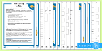 KS2 Pet Care of Fish Differentiated Comprehension Go Respond Activity Sheets - KS2 National Pet Month (April 2017), pet care, non fiction, retrieve information, reading comprehens