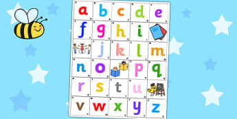 Bee Bot Alphabet Mat - bee bot activities, a-z mat, visual aids