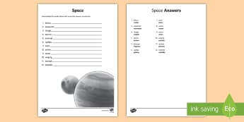 Space Word Unscramble - Vocabulary Development, anagrams, scramble, spelling, keywords ,Scottish
