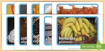 Fairtrade Display Photos English/Spanish - Fairtrade Display Photos - fairtrade, photos, photograph, display, EAL, Spanish, English-Spanish,Spa