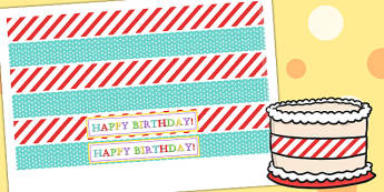Circus Themed Birthday Party Cake Ribbon - parties, role play