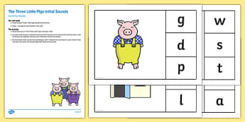 Phonics The Three Little Pigs Busy Bag Resource Pack for Parents